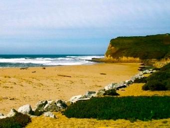 sandy rugged beach