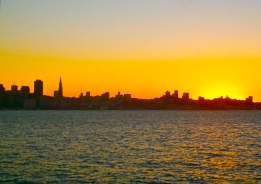 sf skyline sunset