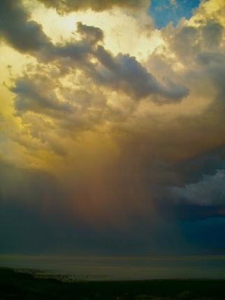 sky color rain