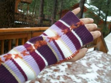 Upcycled Fingerless Mittens