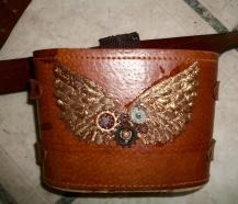 Binocular case = Steampunk hip pouch