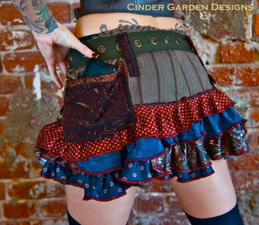 Utilabustle made of Upcycled clothing and neckties