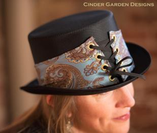 Hat band made of Upcycled necktie