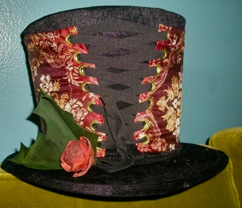 SOLD: Dicken's Hat with leather holly