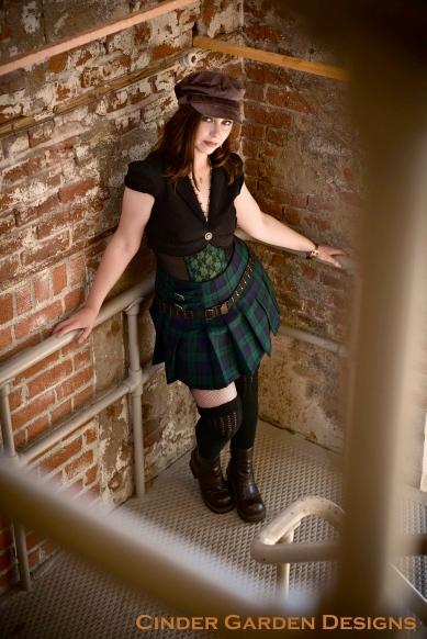 Schoolgirl Steampunk kilt