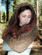 SOLD: Upcycled Infinity Scarf Wrap