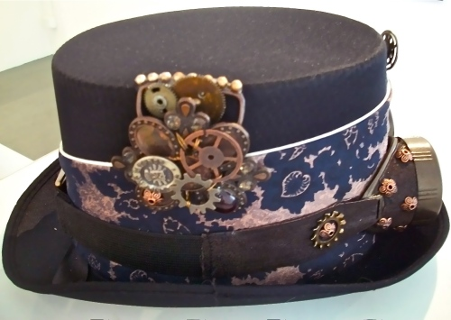 SOLD: Found object bling on hat