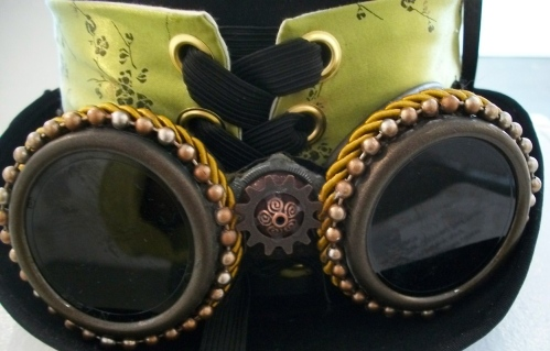 SOLD: Custom goggles made with found objects