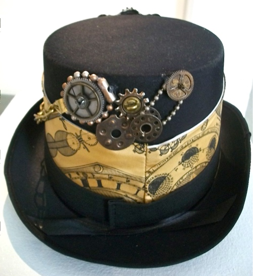 SOLD: Found objects bling on hat