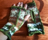 #13M17 Winter Pattern with Green Yarn, SOLD
