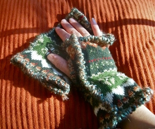 #13M11 Winter Pattern with Green Yarn, SOLD