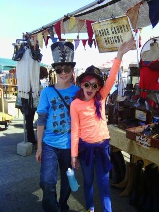 Kids goggle hats