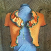 Upcycled Cashmere Ruffled Sweater