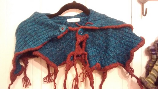 Available: Blue & Rust Neck Wrap $40