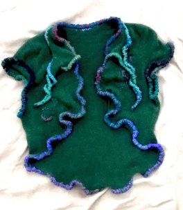 Green Cashmere shrug