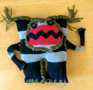 Thursday April 28: Upcycled Sweater-Monster Making 5:30pm - 8:30pm