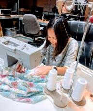 Erica sewing