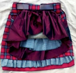 Bustle red plaid flat