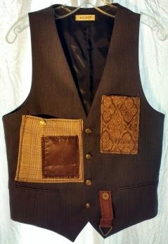 Cargo Vest Brown pinstripe