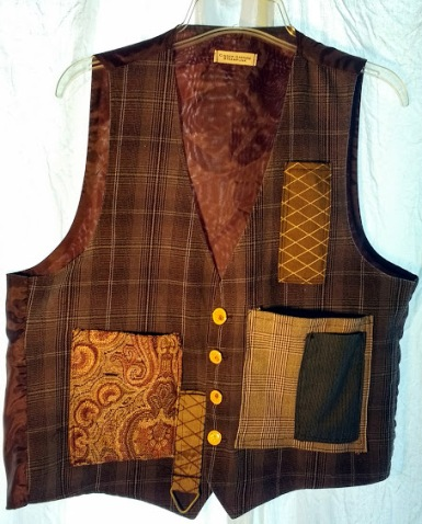 Cargo Vest Brown Plaid
