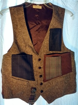 Cargo Vest Brown Tweed