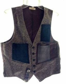 Cargo Vest Grey tweed