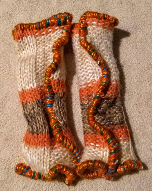 HS Ivory Orange Stripe
