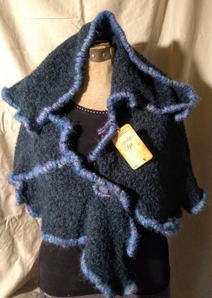 Sweater Cape: Blue Lilac