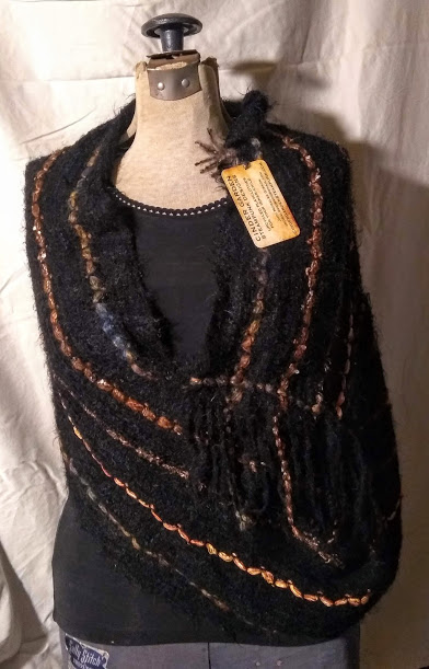 Sweater Wrap: Black with Ribbon