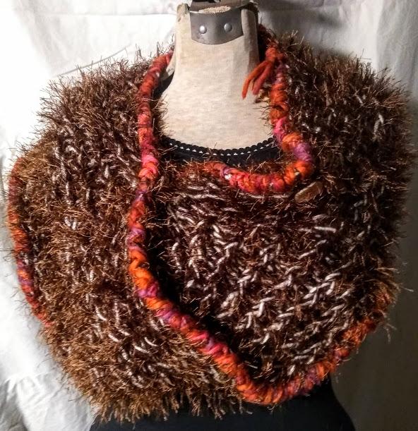 Sweater Wrap: Eyelash Brown