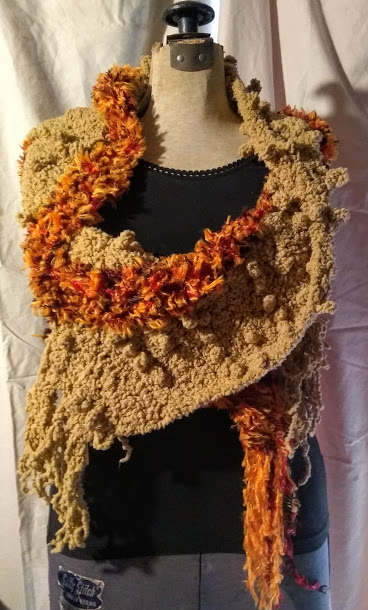 Sweater Wrap: Tan Orange #SW20, $38.00