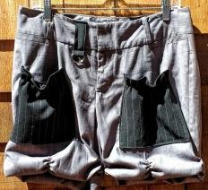 Urban Bloomer Short Grey Pinstripe