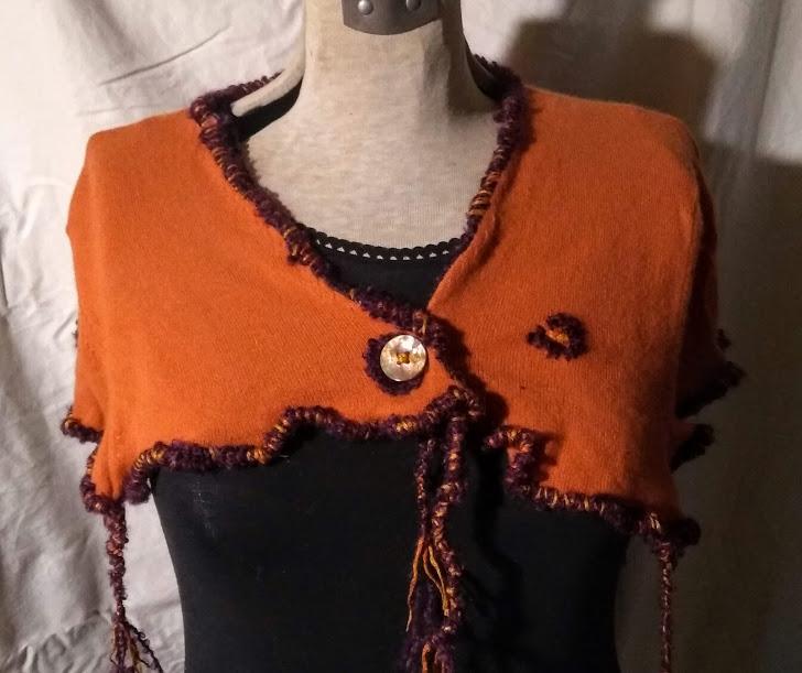 Cashmere Shoulder Wrap: Orange